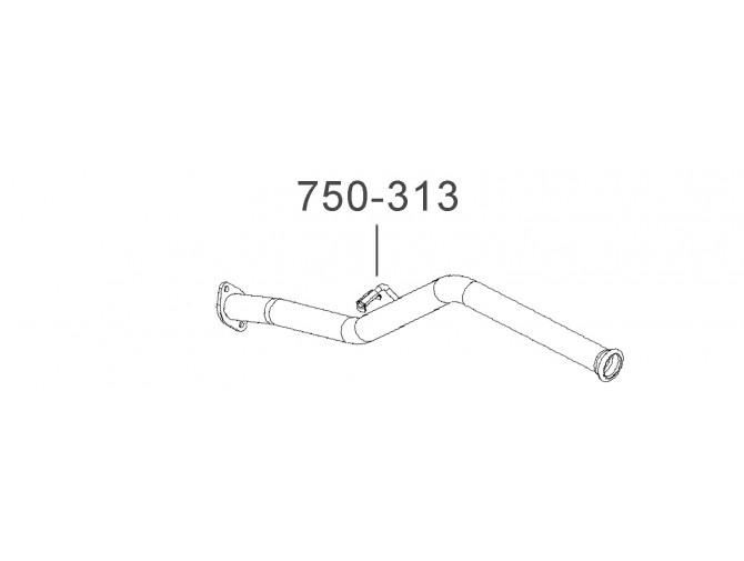 Труба выхлопная Славута-1103 (1103-1201075-11) Украина Bosal алюминизированный