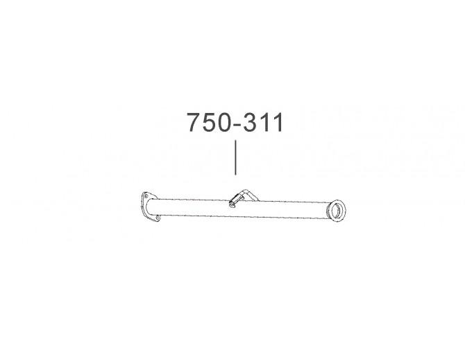 Труба выхлопная Таврия-1102 (1102-1201080-11) Украина Bosal алюминизированный