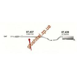 Труба соединительная Фиат Гранде Пунто (Fiat Grande Punto) 1.3 D 05-10 (07.437) Polmostrow алюминизированный