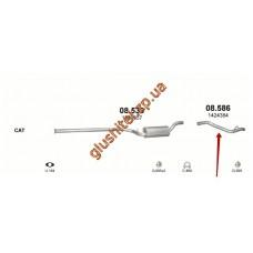 Труба конечная Форд Фокус (Ford Focus) 1.6D/1.8D 04-11 (08.586) Polmostrow алюминизированный