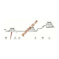 Приемная труба Хюндай  Гетс (Hyundai Getz) 1.1 02-06 (10.64) Polmostrow алюминизированный