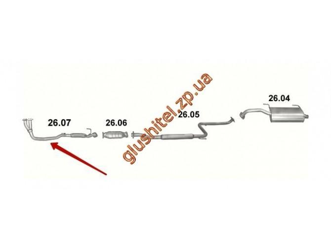 Трубка приемная Тойота Селика (Toyota Celica) (26.07) 1.6 89-93 Polmostrow алюминизированный
