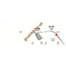 Конечная труба глушителя Ситроен Джампи (Citroen Jumpy) / Пежо Эксперт (Peugeot Expert) / Фиат Скудо (Fiat Scudo) 2.0 Diesel LWB (19.107) Polmostrow алюминизированный
