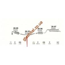 Труба соединительная Полонез (Polonez) Truck/Caro/Atu/Cargo 1.5/1.6/1.9D 91- (20.23) Polmostrow алюминизированный