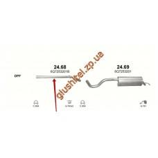 Труба соединительная Шкода Румстер (Skoda Roomster) 1.2D/1.4D/1.6D/1.9D 06- (24.68) Polmostrow алюминизированный
