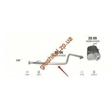 Труба соединительная Сузуки Джимни (Suzuki Jimny) 1.2 06-09 (25.56) Polmostrow алюминизированный