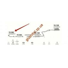 Трубка коллекторная Ниссан Санни (Nissan Sunny) 1.4Ix 92' kat (15.362) Polmostrow алюминизированный
