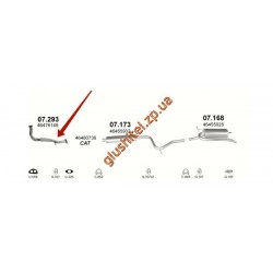 Труба коллекторная Фиат Сиена (Fiat Siena) 1.2  98- (07.293) Polmostrow алюминизированный