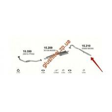Трубка конечная Ниссан Террано (Nissan Terrano) 2.7 TD 06/93-05/96 (15.210) Polmostrow алюминизированный