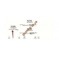 Труба приемная Мерседес Спринтер (Mercedes Sprinter) 2.2 TD 00-06 (13.276) Polmostrow алюминизированный