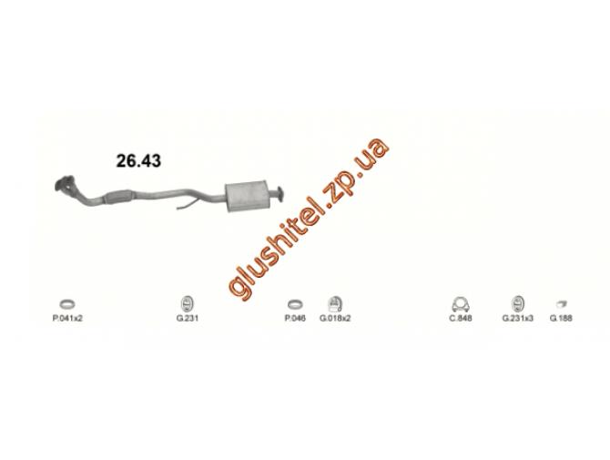 Труба коллекторная Тойота Карина ( Toyota Carina) (26.43) 88-92 Polmostrow алюминизированный