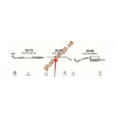 Труба промежуточная Сеат Ибица (Seat Ibiza) / Шкода Фабия (Skoda Fabia) / Фольксваген Поло (Volkswagen Polo) 1.2i -12V 05-09 (23.82) Polmostrow алюминизированный