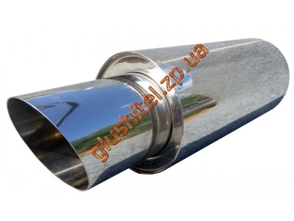Прямоточный глушитель Unimix UCS315-813-7026-70 с насадкой, из нержавейки универсальный