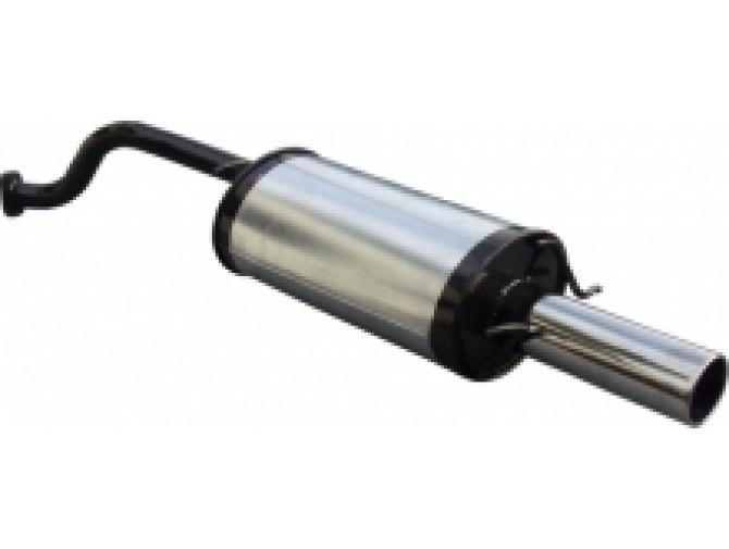 Глушитель прямоточный ДЭУ Ланос - Сенс (Daewoo Lanos - Sens) седан 1.3-1.6 - Unimix
