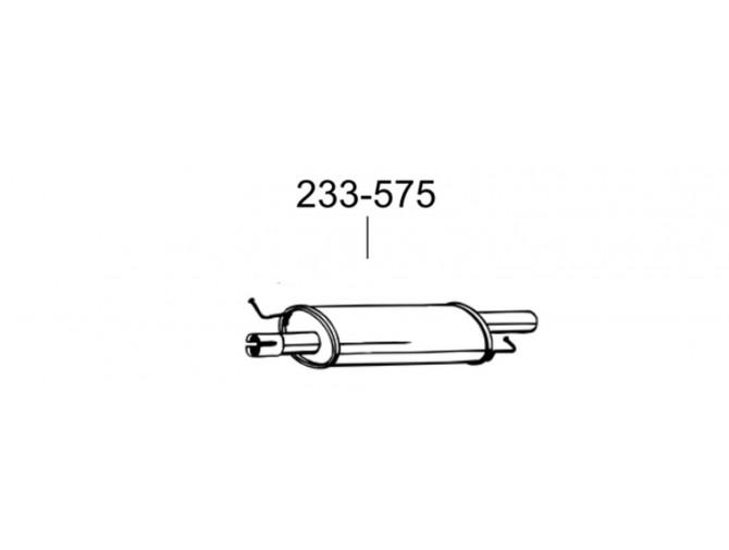 Резонатор Фольксваген Транспортер V (Volkswagen Transporter V) 1.9 TDi TD (233-575) Bosal 30.211 алюминизированный