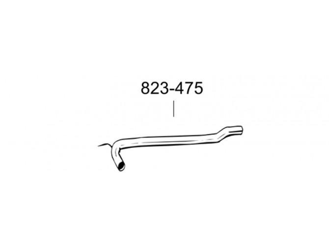 Ремонтная труба глушителя Фольксваген Транспортер IV (Volkswagen Transporter IV) 2.5TD 01/96-07/03 kr. (823-475) Bosal 30.450 алюминизированный