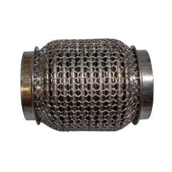 Гофра глушителя 50Х100 усиленная Interlock кольчуга (3 слоя, короткий фланец / нерж.сталь) Walline