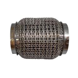 Гофра глушителя 60Х115 усиленная Interlock кольчуга (3 слоя, короткий фланец / нерж.сталь) Walline