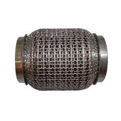 Гофра глушителя 60Х120 усиленная Interlock кольчуга (3 слоя, короткий фланец / нерж.сталь) Walline