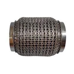 Гофра глушителя 64Х120 усиленная Interlock кольчуга (3 слоя, короткий фланец / нерж.сталь) Walline
