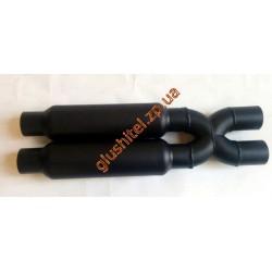 X-pipe со стронгерами диаметр 55 алюминизированный