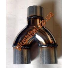 Y-pipe-U разветвитель диаметр 60, нержавейка/алюминизированный