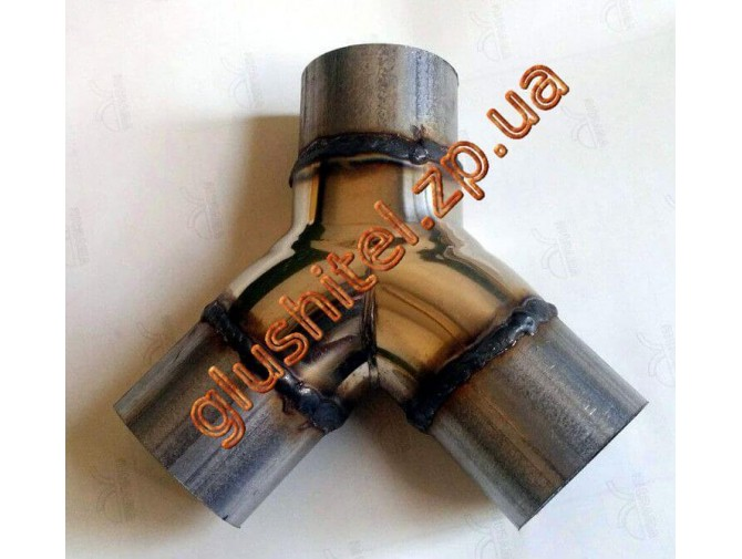 Y-pipe разветвитель диаметр 60, нержавейка/алюминизированный