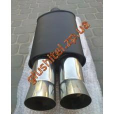 Прямоточный глушитель YFX-0640 (V006) алюминизированный/нержавейка