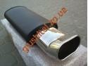 Прямоточный глушитель YFX-0650 (V007) алюминизированный/нержавейка
