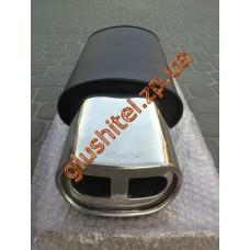 Прямоточный глушитель YFX-0679 (V011) алюминизированный/нержавейка