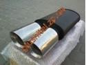 Прямоточный глушитель YFX-0688 (V012) алюминизированный/нержавейка