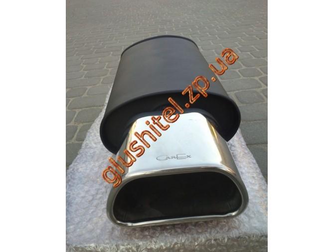 Прямоточный глушитель YFX-0693 (V014) алюминизированный/нержавейка