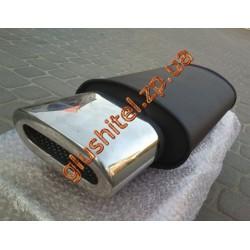 Прямоточный глушитель YFX-0725 (V018) алюминизированный/нержавейка
