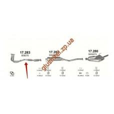 Заменитель катализатора Опель Вектра Б (Opel Vectra B) 1.8/2.0 16V 10/95-09/00 (17.283) Polmostrow алюминизированный