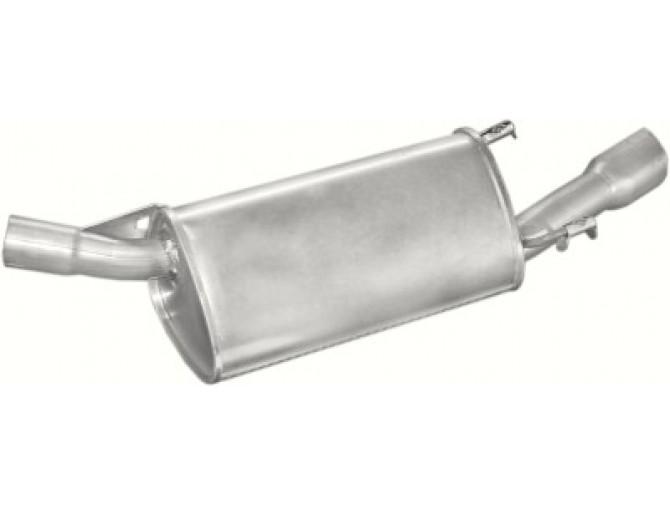 Глушитель Опель Тигра (Opel Tigra) 1.4i; 1.6i -16V kat 94-97 (17.265) Polmostrow алюминизированный