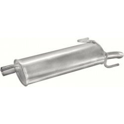 Глушитель Опель Астра (Opel Astra) 1.4i 16V kat 96-98 (17.49) Polmostrow алюминизированный