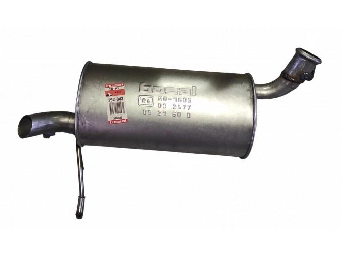 Глушитель задний Пежо 407 (Peugeot 407) 04-07 (190-043) Bosal алюминизированный